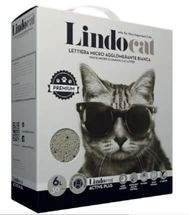 Комкующийся наполнитель для кошек Lindocat ACTIVE PLUS бентонитовый, 5.5 кг, 6 л