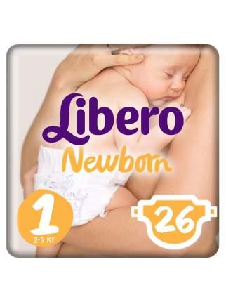 Подгузники для новорожденных Libero Newborn Size 1 (2-5 кг), 26 шт.
