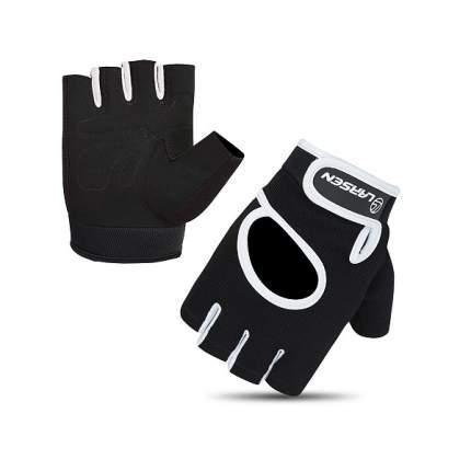 Перчатки для фитнеса Larsen NT558BG черно-серые L