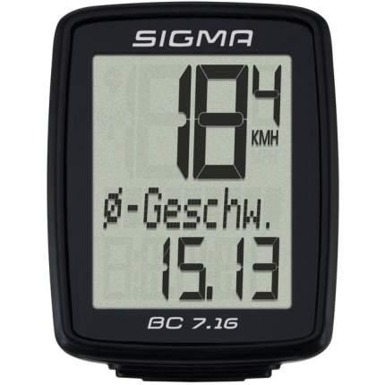 Велокомпьютер Sigma BC 7.16 black