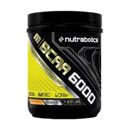 Nutrabolics MBCAA 6000 240 г фруктовый пунш