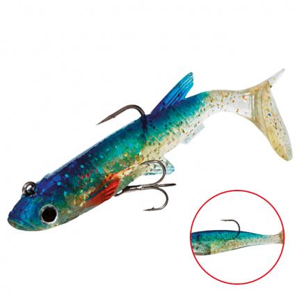 Виброхвост оснащенный Mikado Crystal Fish WXH-65 6 см, 64, 2 шт.