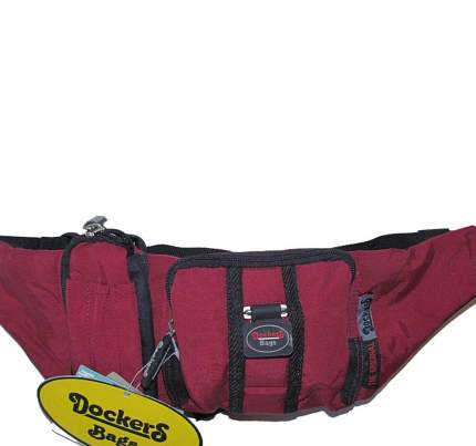 Сумка поясная DockerS 94534 бордовая