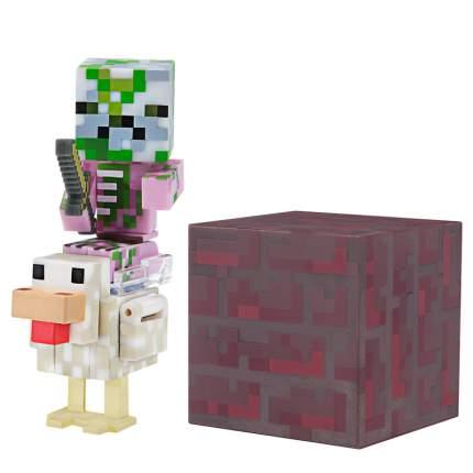 Набор фигурок Jazwares Games: Minecraft: Baby Zombie Pigman Jockey