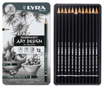 Карандаши чернографитные Lyra Rebbrant Art Design L1110106