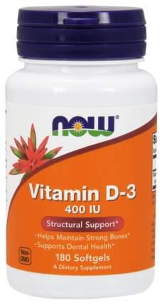Витамин D NOW Vitamin D-3 400 Me 180 капс.