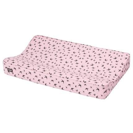 Luma матрасик пеленальный xl 77*74 см розовый нежный