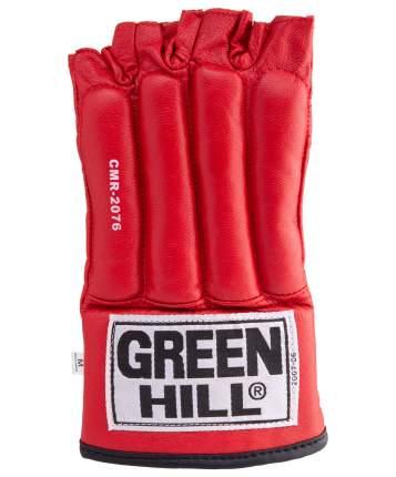 Перчатки снарядные Green Hill ROYAL CMR-2076, шингарды, кожа, красные (M)
