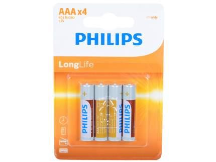Элемент питания ААА Philips R03L4B/10 Zinc-Chlorid (4B)