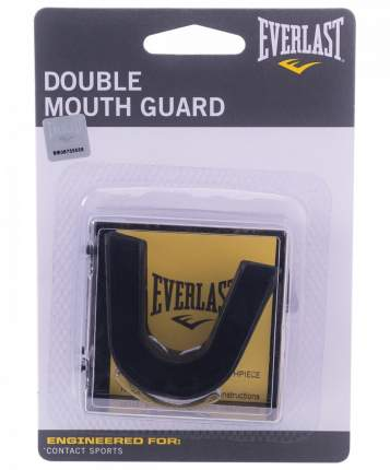 Капа Everlast 2-челюстная Double 4410BE, черная
