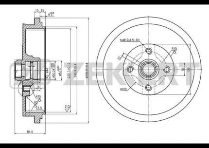 Тормозной барабан ZEKKERT BS-5066