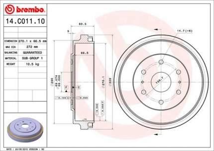 Тормозной барабан BREMBO 14.C011.10
