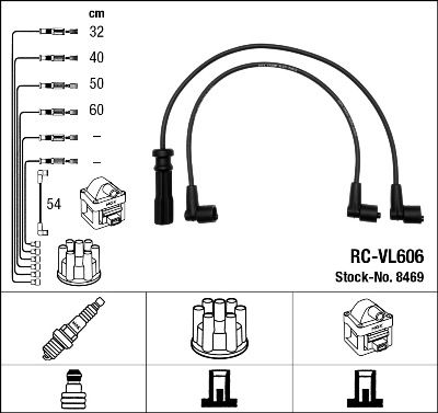 Комплект проводов зажигания NGK 8469