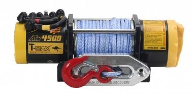 Лебедка электрическая T-Max ATW PRO 4500 с синтетическим тросом W0372