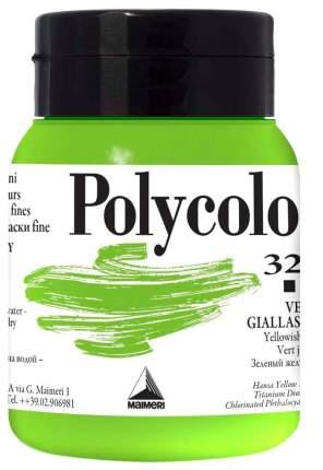 Акриловая краска Maimeri Polycolor 323 зеленый желтоватый 500 мл