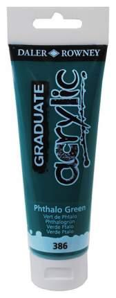 Акриловая краска Daler Rowney Graduate зеленый 120 мл