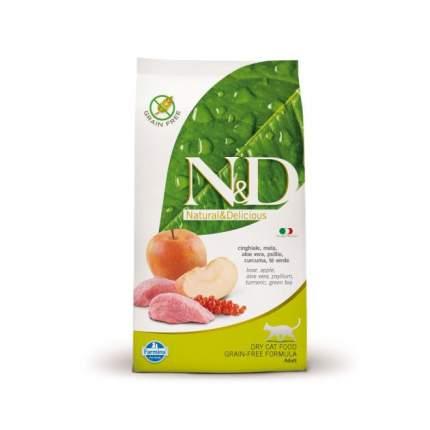 Сухой корм для кошек Farmina N&D, беззерновой, кабан с яблоком, 0,3кг