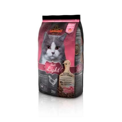 Сухой корм для кошек Leonardo Adult Light, при ожирении, курица, 2кг