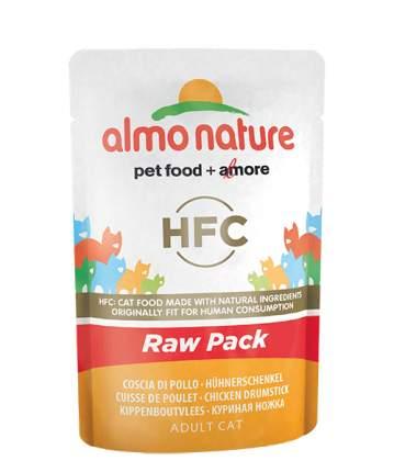 Влажный корм для кошек Almo Nature HFC Raw Pack, куриные бедрышки, 55г