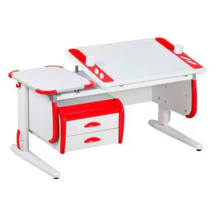 Растущая парта для школьника для дома Дэми Techno СУТ 31-03 с белый, красный, белый,