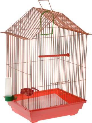 Клетка для птиц ZooMark, большая, домик, комплект, 35 х 28 х 55 см