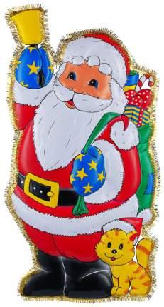 Панно Snowmen Дед Мороз и кошка Е3193