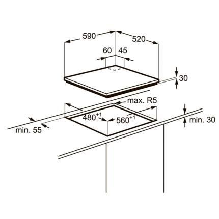 Встраиваемая варочная панель газовая Electrolux EGT96342NW White