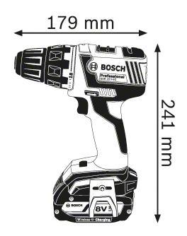 Аккумуляторная дрель-шуруповерт Bosch GSR 18 V-EC 06019D6108