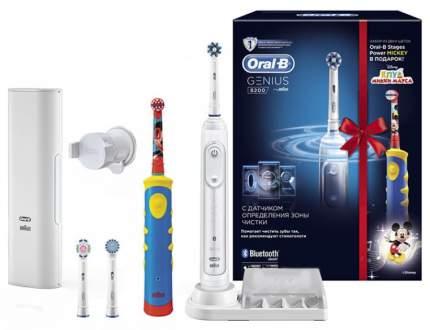 Электрическая зубная щетка Oral-B 8200 D701 Genius White + D10,513K Mickey Kids