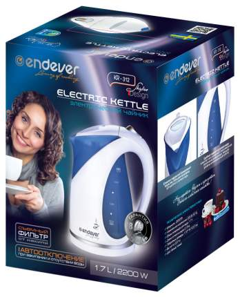 Чайник электрический Endever Skyline KR-312 Blue/White