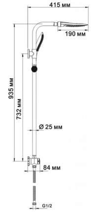 Душевая стойка WasserKRAFT А045