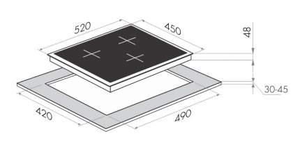 Встраиваемая варочная панель электрическая MAUNFELD MVCE45.3HL.SZ-BK Black