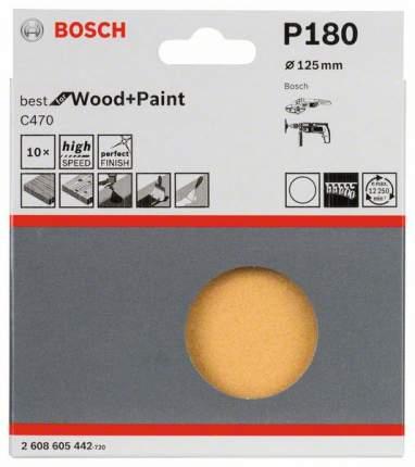 Лист для вибрационной шлифовальной машины Bosch 125мм К180 2608605442