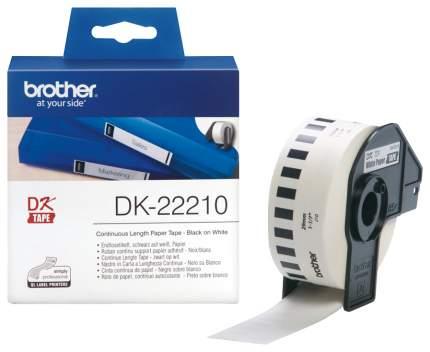 Лента для печати наклеек Brother DK22210 Белый