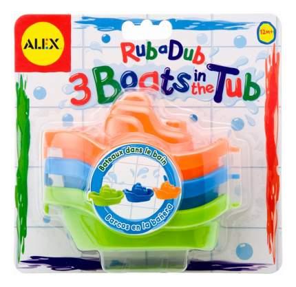 Игрушка для купания ALEX 3 цветные лодочки
