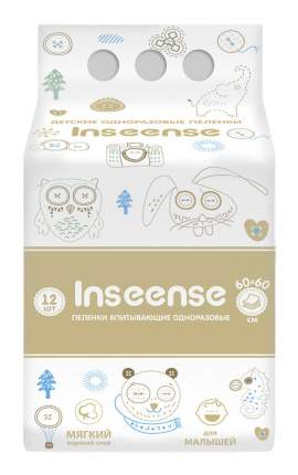 Пеленки впитывающие Inseense 60х60, 12 шт