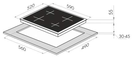 Встраиваемая варочная панель индукционная MAUNFELD EVI.594-BG Beige
