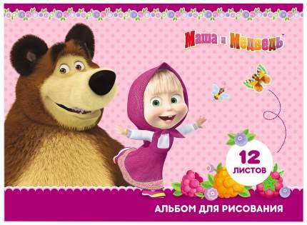 Альбом для рисования Росмэн «Маша и Медведь», 12 листов, А4 на скрепке