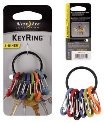 Набор карабинов Nite Ize S-Biner KeyRing KRG-03-01 Black