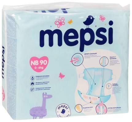 Подгузники для новорожденных Mepsiс рельефным слоем NB (до 6 кг) 90 шт,