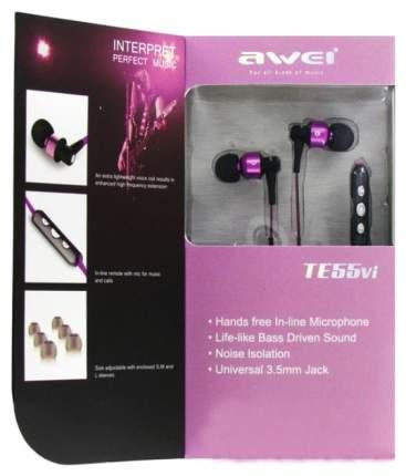 Наушники Awei TE55Vi Purple