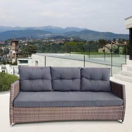 Плетеный трехместный диван AFM-308B-1 Beige