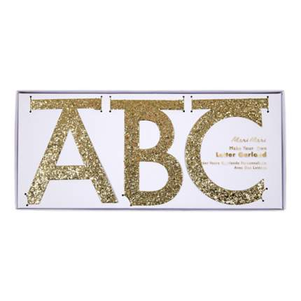 Гирлянда с набором букв Meri Meri Мерцающее золото