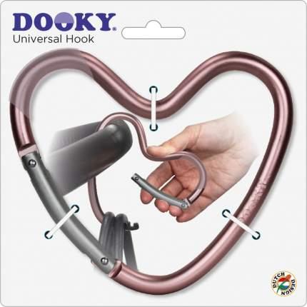 Крепление Dooky-Xplorys для сумок Dooky Heart Hook Pink Matt, матовый розовый