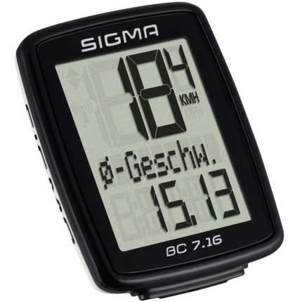 Велокомпьютер Sigma BC 7.16 черный
