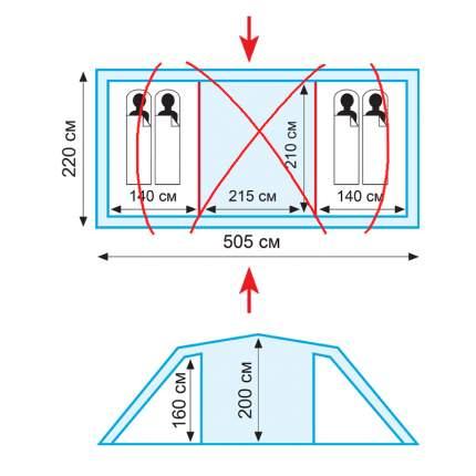 Комплект дуг дюрапол для палатки Tramp Brest 4