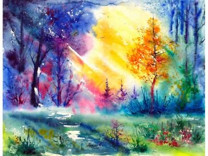 """Картина по номерам Paintboy """"Солнце в листве"""", 40x50 см"""