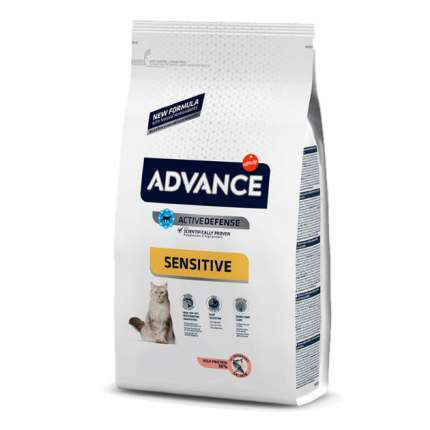 Сухой корм для кошек Advance Sensitive, лосось, 3кг