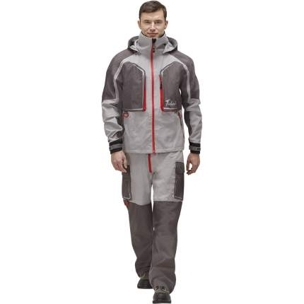 Куртка для рыбалки Nova Tour Fisherman Риф Prime, серая/красная, XXL INT, 188 см