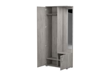 Платяной шкаф Hoff Монблан 80328842 93,6х40х212, бетон чикаго светло-серый